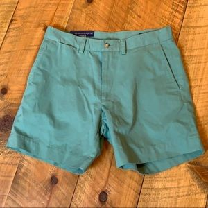 Polo pale Caribbean green flat front shorts 30 NWT